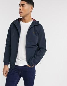 Темно-синяя куртка с капюшоном Farah-Темно-синий