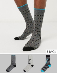 """3 пары носков с принтом \""""Friends\"""" New Look-Мульти"""