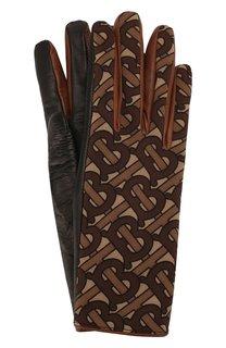 Кожаные перчатки Burberry