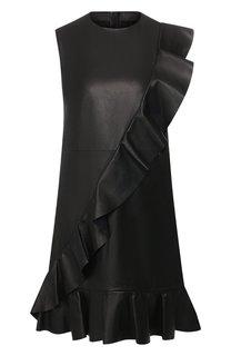 Кожаное платье REDVALENTINO