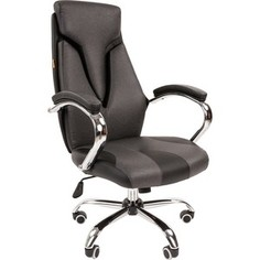 Офисноекресло Chairman 901 экопремиум черный/серый