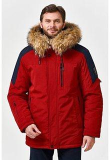 Утепленная куртка с отделкой мехом енота Malinardi