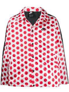 Nike куртка в горох с вышитым логотипом