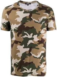 Balmain футболка с камуфляжным узором