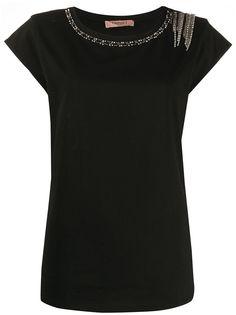 Twin-Set футболка со стразами