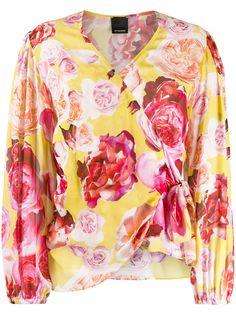 Pinko блузка с цветочным принтом и запахом