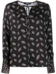Luisa Cerano блузка с цветочным принтом