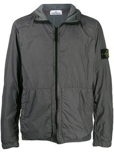 Stone Island куртка Crinkle Reps с капюшоном
