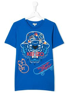 Kenzo Kids футболка Wax с принтом Tiger