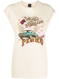 Pinko декорированная футболка с укороченными рукавами-кап