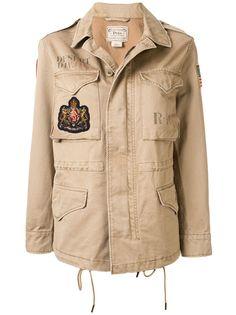 Polo Ralph Lauren куртка в стиле милитари с нашивками