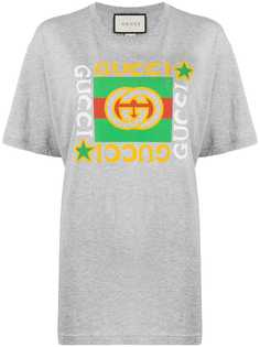 Gucci футболка оверсайз с логотипом GG