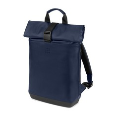 Рюкзаки, чемоданы, сумки Рюкзак Moleskine CLASSIC ROLLTOP (ET86RBKB20) 36x48x11см 18л. 1.5кг. эко-кожа синий сапфир