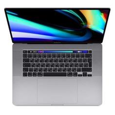 "Ноутбук APPLE MacBook Pro MVVJ2RU/A, 16"", IPS, Intel Core i7 9750H 2.6ГГц, 16Гб, 512Гб SSD, Radeon Pro 5300M - 4096 Мб, macOS, MVVJ2RU/A, серый"
