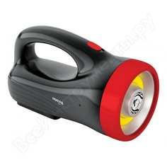 Аккумуляторный светодиодный фонарь-прожектор рекорд pв-3200, черный 23206