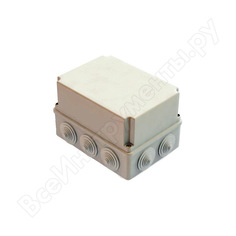 Распаячная коробка с крышкой оп 190х140х120мм, ip44, 10 гермовводов tdm sq1401-1245