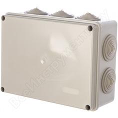 Распаячная коробка с крышкой оп 190х140х70мм, ip55, 10 гермовводов, tdm sq1401-1244