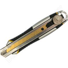 Строительный нож 18 мм в металлическом корпусе с винтовым зажимом inforce 06-02-12
