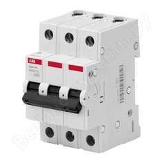 Автоматический выключатель abb 3p 10a c 4.5ка bms413c10 2cds643041r0104