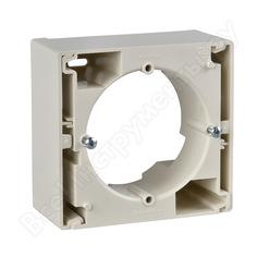 Одиночная коробка для наружного монтажа schneider electric sedna, бежевый se sdn6100147
