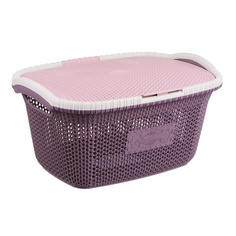 Корзина для белья с крышкой Violet 28л сливовый