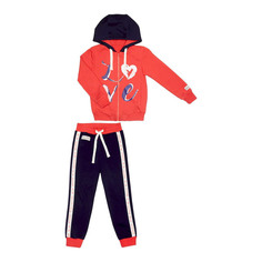 Спортивный костюм Lucky Child: куртка и брюки коралл/синий 128-134