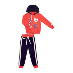 Спортивный костюм Lucky Child: куртка и брюки коралл/синий 98-104