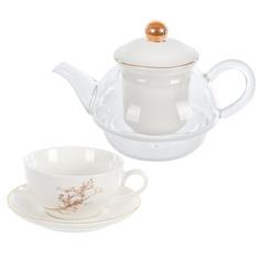 Набор чайный Kaemingk Gold Branch 3 предмета