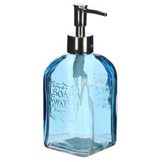 Дозатор для мыла Wenko sanitary vetro round голубой