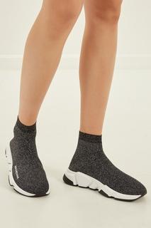 Текстильные кроссовки с люрексом Balenciaga