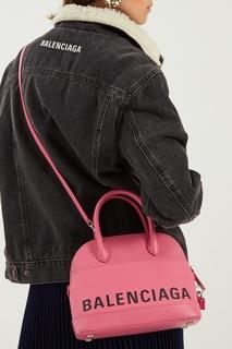 Розовая сумка с логотипом Ville small Balenciaga