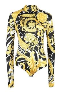 Боди из эластичной ткани Versace