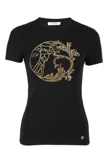 Футболка черного цвета с логотипом Versace Collection