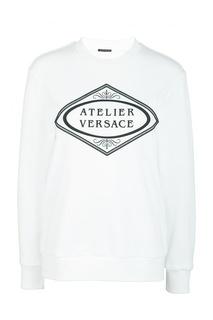Белый свитшот оверсайз Versace