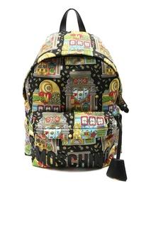 Разноцветный рюкзак с принтом Slot Machine Moschino