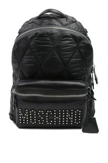 Черный стеганый рюкзак Moschino