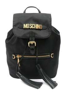 Черный рюкзак из текстиля Moschino