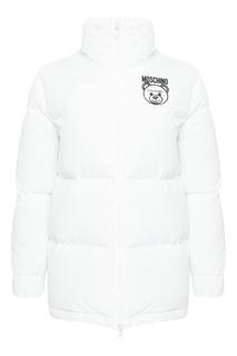 Белая куртка с логотипом Teddy Bear Moschino
