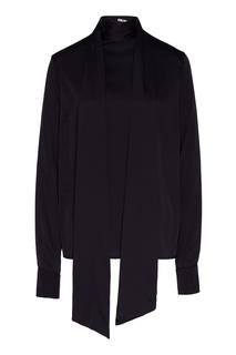 Черная вискозная блуза Beri Begi