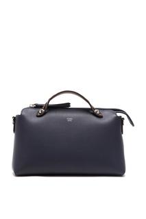 Синяя кожаная сумка с шипами Fendi