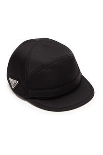 Черная кепка из нейлона Prada