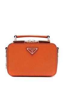 Маленькая оранжевая сумка Prada