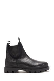Массивные кожаные ботинки Prada