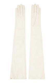 Длинные кожаные перчатки Gucci