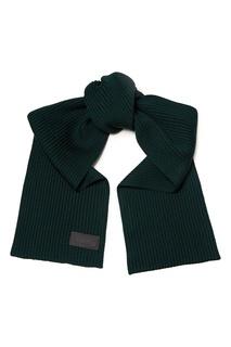 Темно-зеленый шерстяной шарф Prada