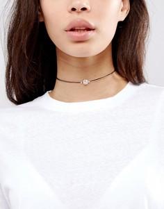 Ожерелье-чокер с камнем ASOS-Черный
