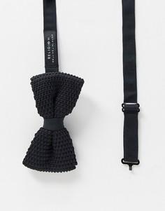 Трикотажный галстук-бабочка Religion-Черный