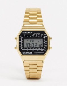 Золотистые цифровые часы Sekonda-Золотой