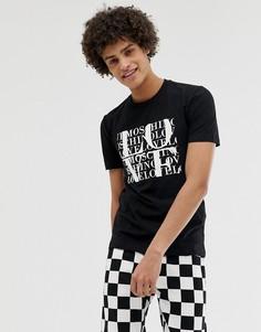 Футболка с логотипом Love Moschino-Черный