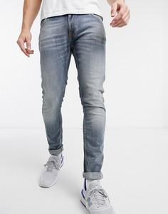 Синие джинсы скинни Nudie Jeans-Синий